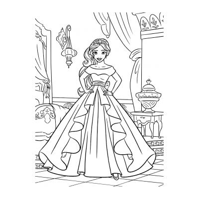 Раскраска принцесса Елена из Авалора