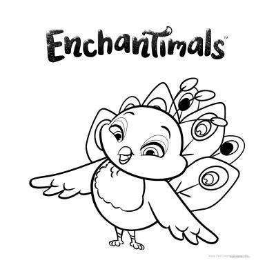 Картинка - раскраска Enchantimals