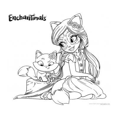 Enchantimals раскраска