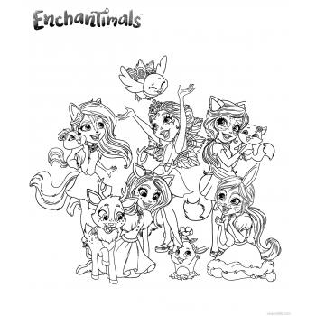 Enchantimals раскраска
