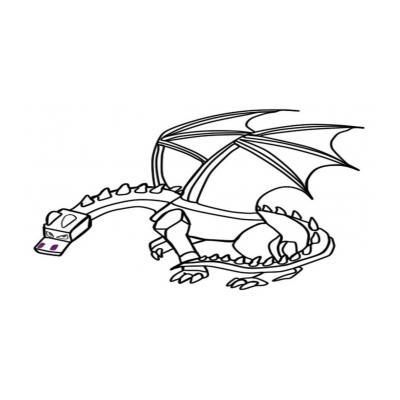 Раскраска Ender Dragon
