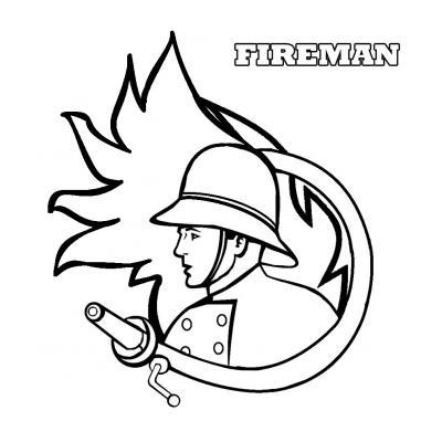 Раскраска Пожарный - распечатать, скачать бесплатно
