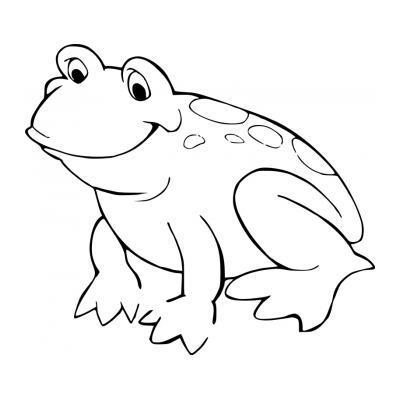 Распечатать раскраску с лягушкой