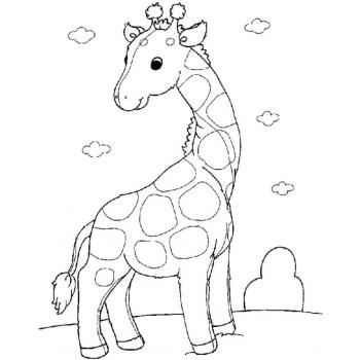 Раскрасить жирафа