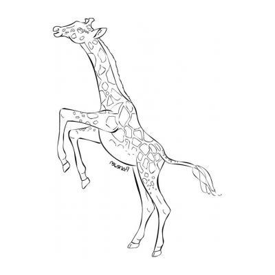 Жираф гуляет