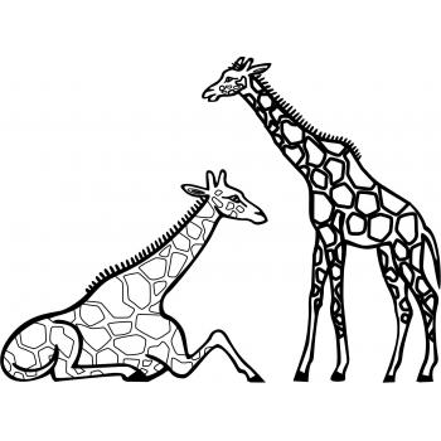 Жираф - раскраска для детей