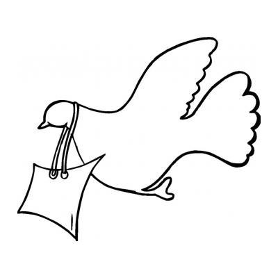 трафарет голубя ко Дню Победы