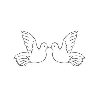 трафарет голубь для вырезания