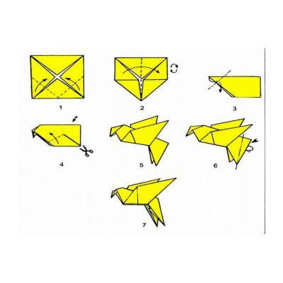 шаблон голубь для вырезания из бумаги