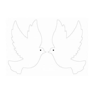 трафарет голубь к 1 мая
