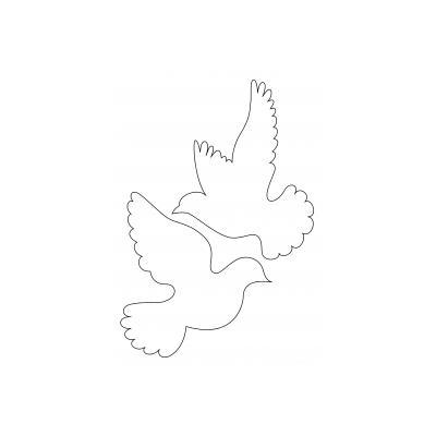 Шаблон голубя
