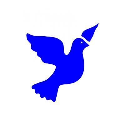 трафарет голубя на окно