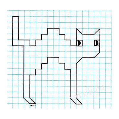 Графический диктант Кошечка