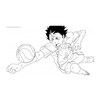 Раскраска аниме Волейбол