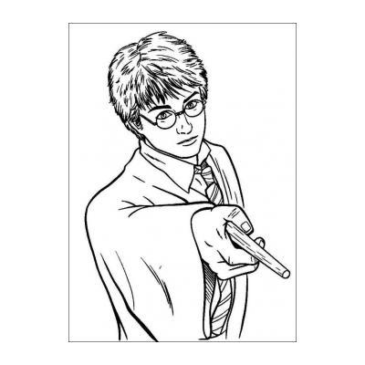 Раскраска Гарри Поттер - факультеты