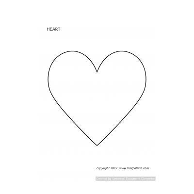Трафарет сердце на окно