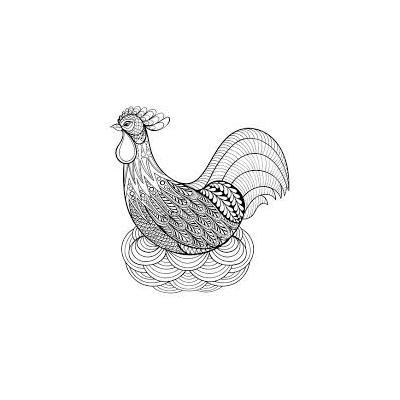 Раскраска курица