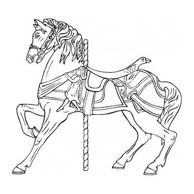 Распечатать раскраску с лошадью