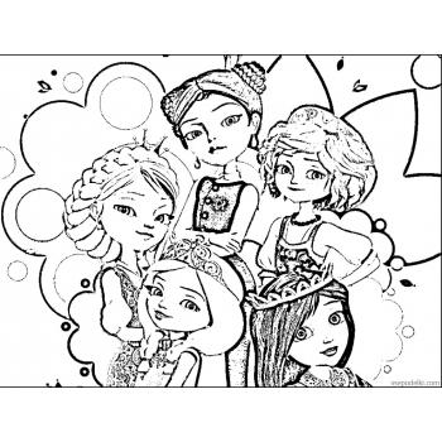 Раскраска из мультфильма Царевны