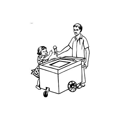 Раскраска продавец - распечатать, скачать бесплатно