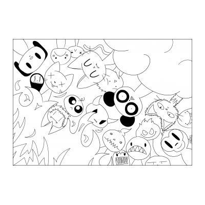кавай аниме раскраска