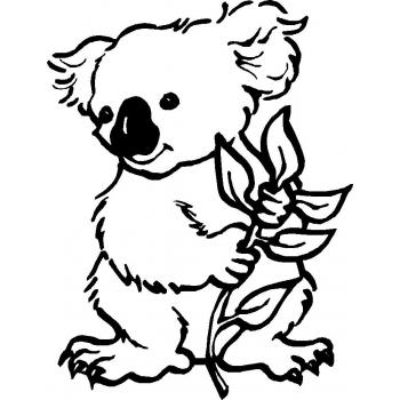 Коала - раскраска для детей