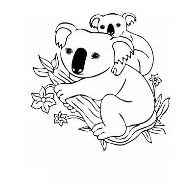 Раскрасить коалу