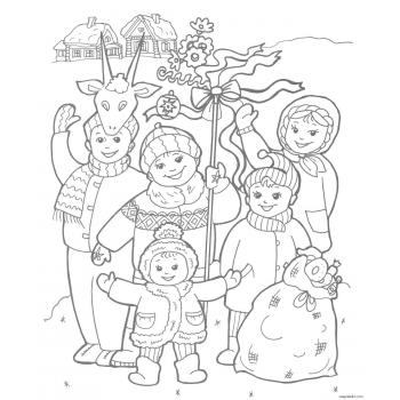 Раскраска Рождество Христово
