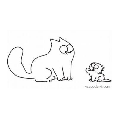 Раскраска Кот Саймон - распечатать - распечатать, скачать бесплатно