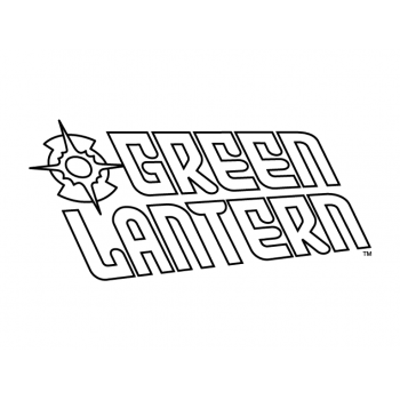 Раскраска героев комикса Зеленый Фонарь