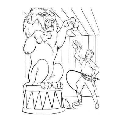 Раскрасить льва