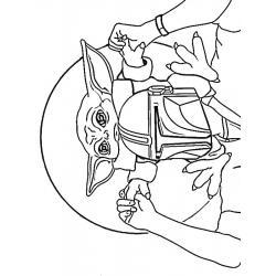 Раскраска мандалорец