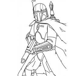Раскраска мандалорец из звездных войн