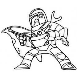 Раскраска мандалорец и Йода