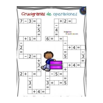 математический кроссворд 1 класс