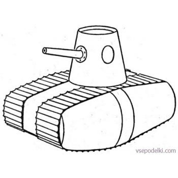 Раскраска Танки из World of tanks(military-tank-coloring-page)