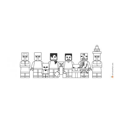 Раскраска Лего Майнкрафт