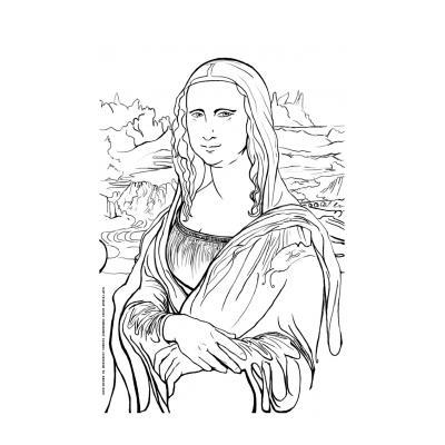 Раскраска Джоконда