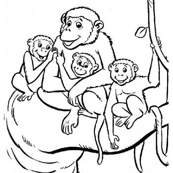 Раскраска обезьянка