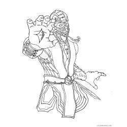 Раскраска Мортал Комбат