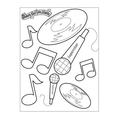Раскраска музыкальный инструмент