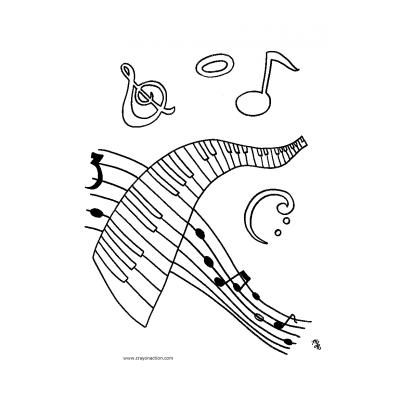 Раскраска музыка