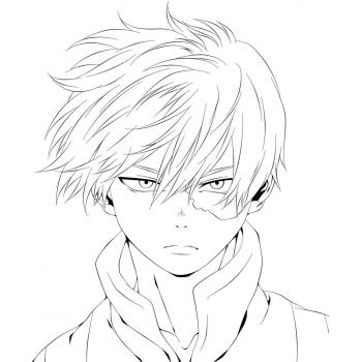 Раскраска аниме Моя геройская академия