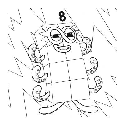Раскраски Numberblocks