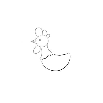 Петух - раскраска для детей
