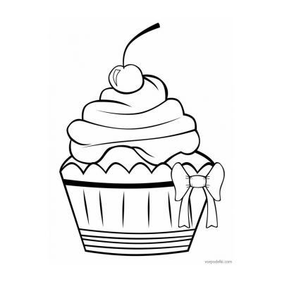 Раскраски Тортики и пирожные - распечатать, скачать бесплатно