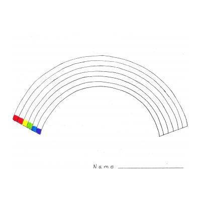 Мультяшная радуга
