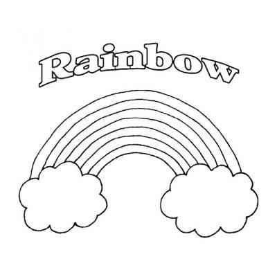 Раскраска радуга
