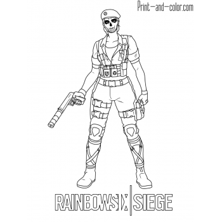 Раскраска Rainbow Six Siege
