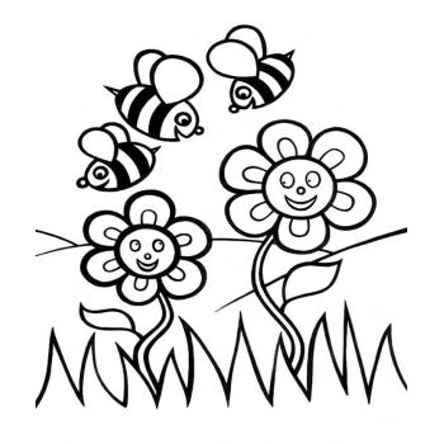 Раскраски Пчела - распечатать, скачать бесплатно